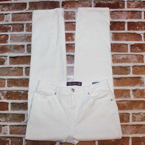 Gloria Vanderbilt White Amanda Jeans Size 8